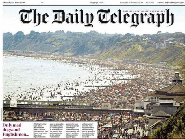 Screenshot «Daily Telegraph»