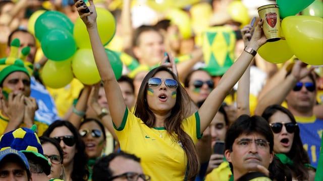 Brasilianische Fans.