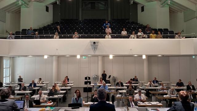 Improvisierter Kantonsratssaal Obwalden