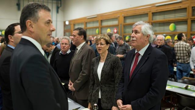 Hansjörg Walter, Verena Herzog, und Roland Eberle.