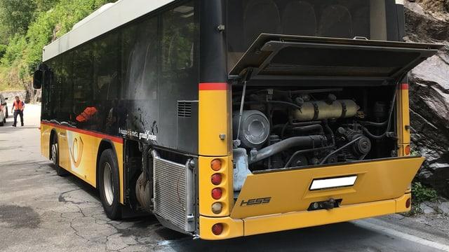 Das brennende Postauto konnte schnell gelöscht werden.