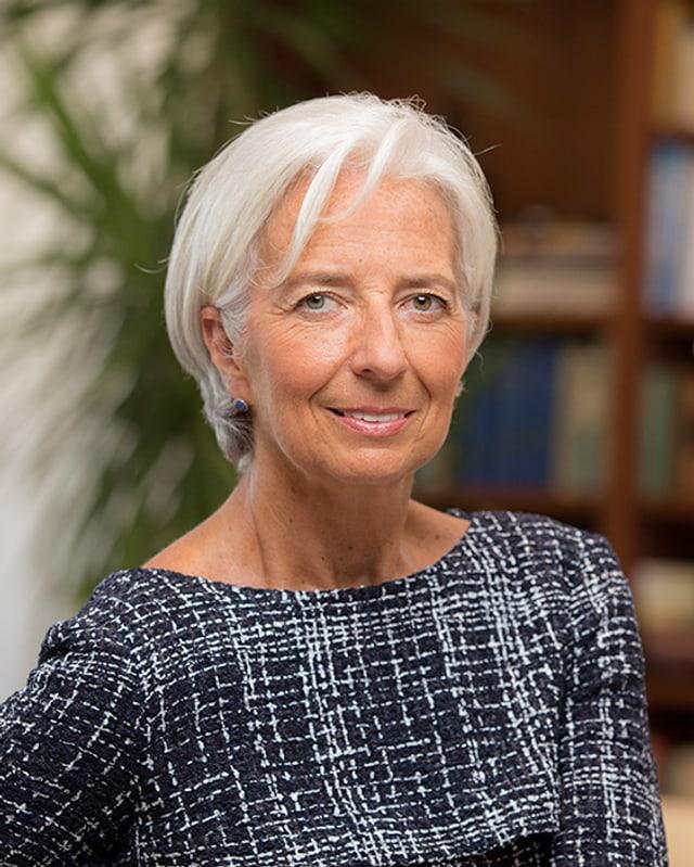 Porträt von Christine Lagarde.