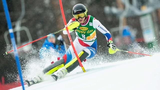 Wendy Holdener führt das Slalom-Team der Frauen in Levi an.