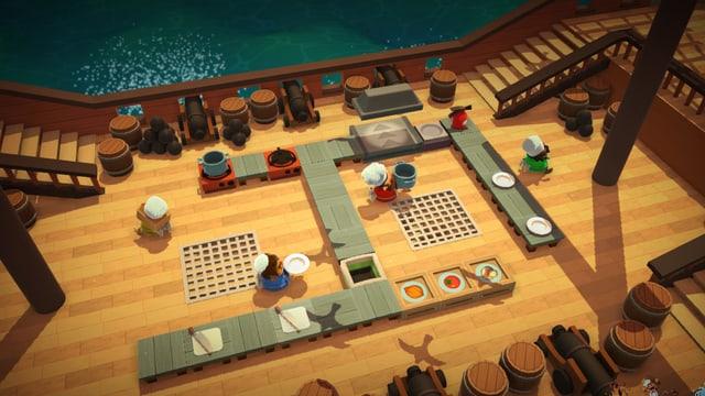 Kochen auf dem Schiff.