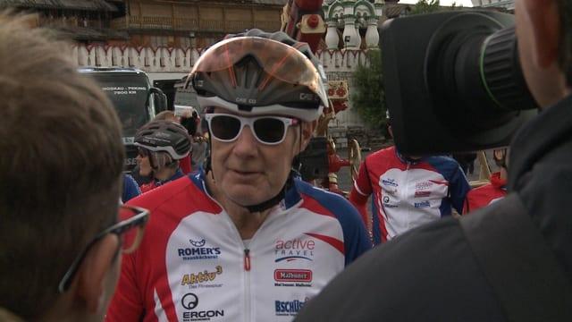 Der Aargauer Rudolf Brönnimann: frisch pensioniert und dann gleich mit dem Velo von Moskau nach Peking.