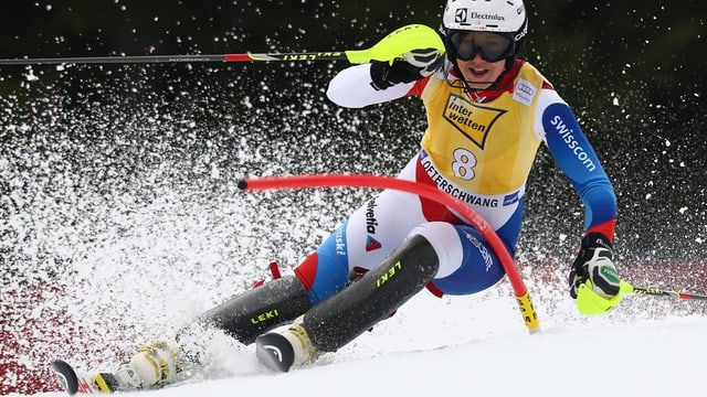 Wendy Holdener auf ihrer Fahrt zu ihrer besten Weltcupplatzierung in dieser Saison in Ofterschwang.