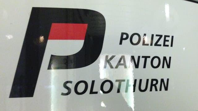 Schriftzug der Kantonspolizei Solothurn