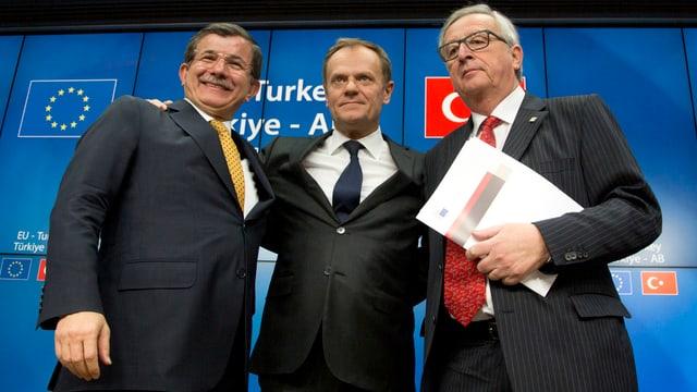Zu Davutoglu konnten Donald Tusk und Jean-Claude Juncker Vertrauen aufbauen.