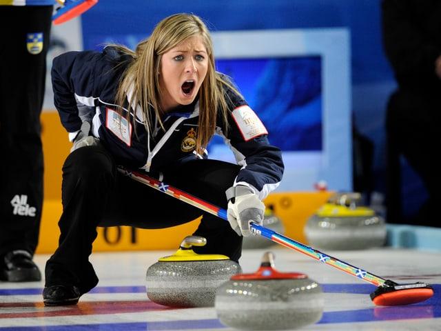 Eve Muirhead führt ihr Team zur Goldmedaille.