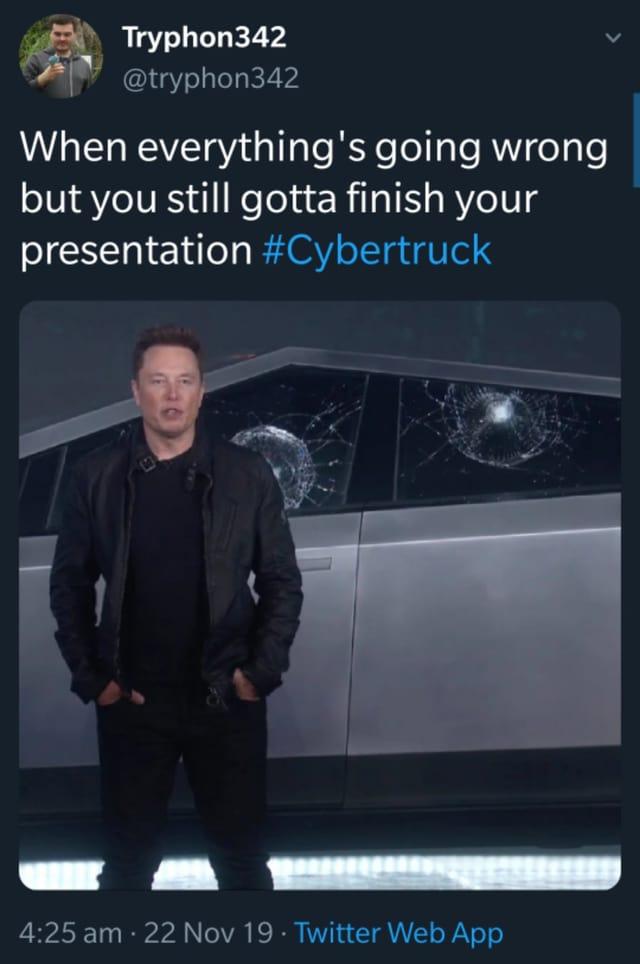 Elon Musks Cybertruck: Präsentation: Shit happens.