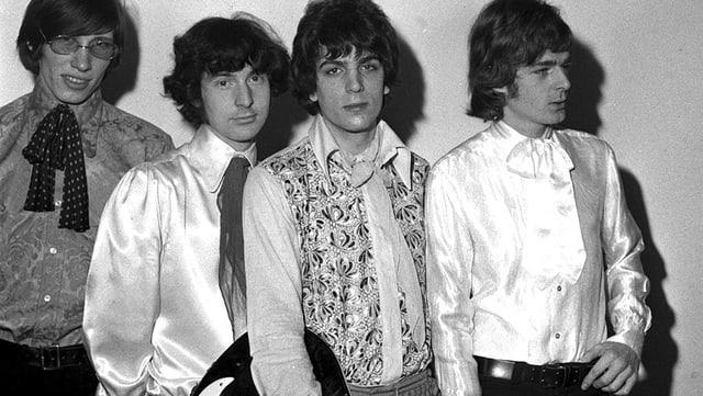 Pink Floyd in ihrer Urbesetzung von links nach rechts: Roger Waters, Nick Mason, Syd Barret und Rick Wright.