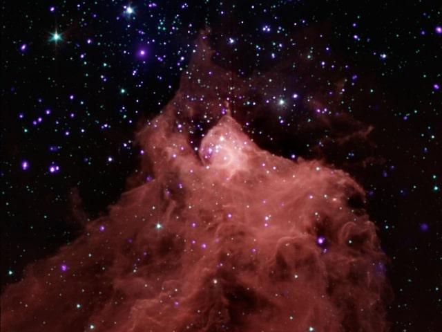 Bild einer molekularen Wolke in unserer Milchstrasse.