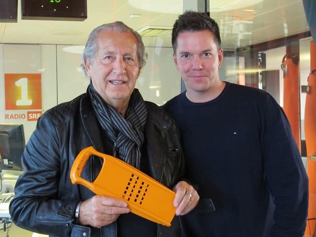 Rolf Strässle und Sven Epiney im Radiostudio.