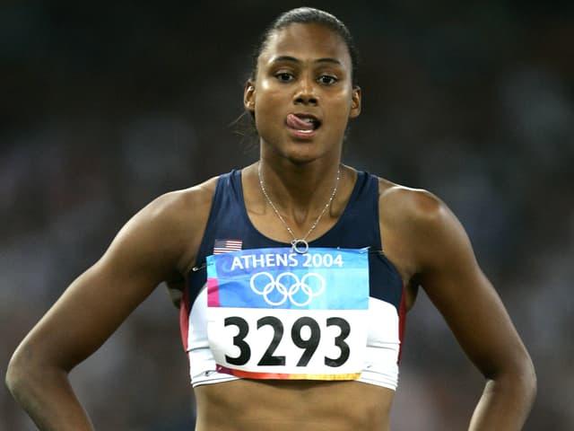 Die ehemalige US-Leichtahletin Marion Jones