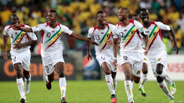 Seydou Keita (Nummer 12) führte Mali als Captain zum Sieg.