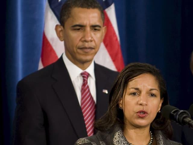 Obama und Rice im Porträt