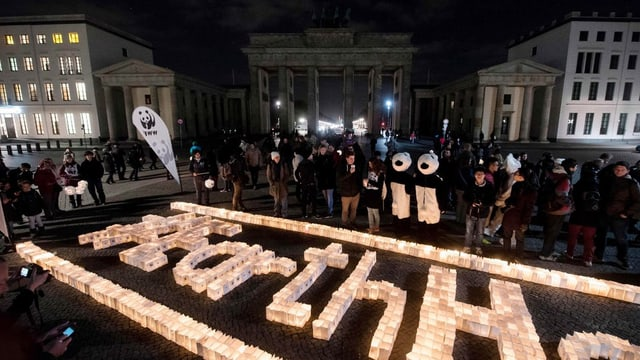 Berlin Brandenburger Tor ohne Beleuchtung