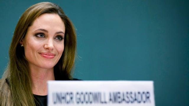 UNHCR-Botschafterin Angelina Jolie, hier bei einer Konferenz in Genf.