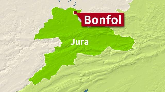 Karte Bonfol