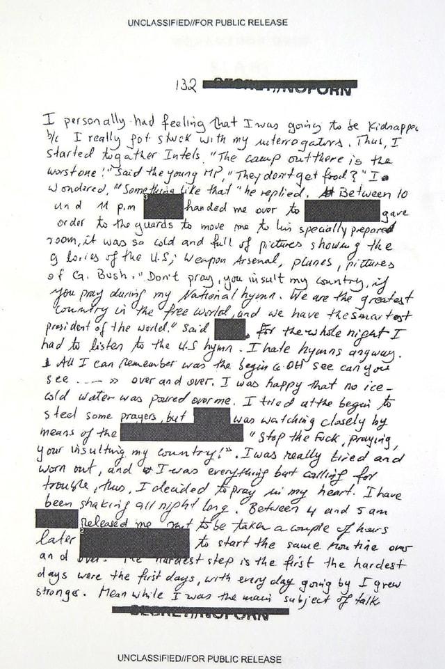 Eine Seite aus dem Tagebuch.
