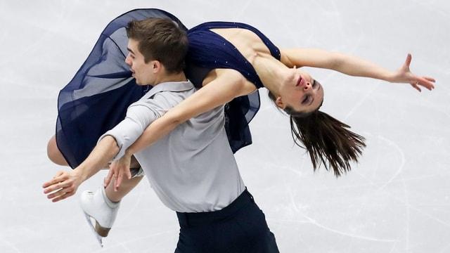 Victoria Manni und Carlo Röthlisberger an der Eiskunst-EM in Ostrava