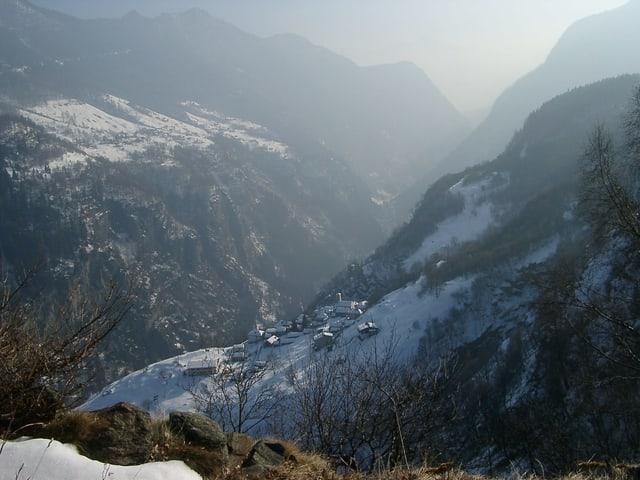 Blick ins Val Calanca.