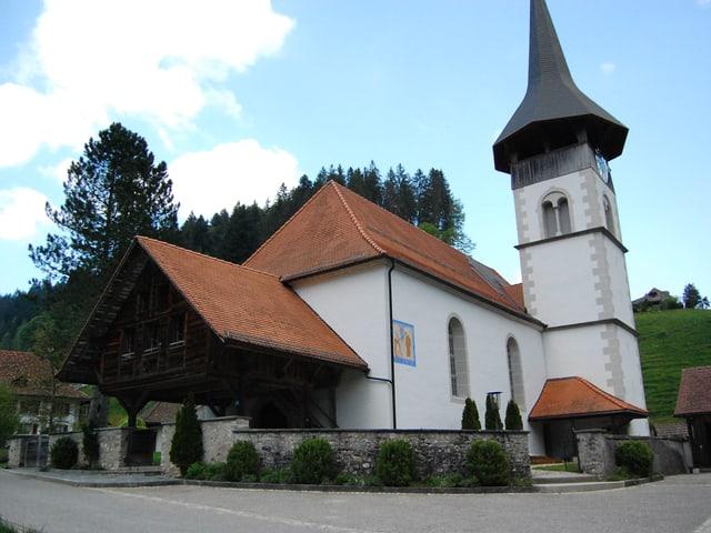 Kirche Trub von aussen.