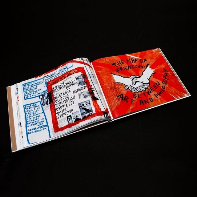 Ein Ausschnitt aus einem Buch, in dem Hirschhorns Karten gezeigt werden