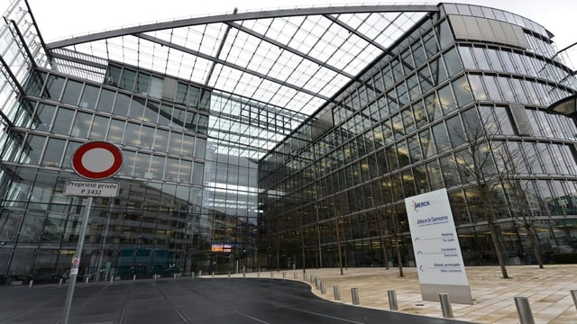 Ehemaliger Sitz von Merck Serono in Genf