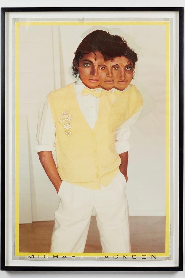 Michael Jackson mit mehreren Gesichtern