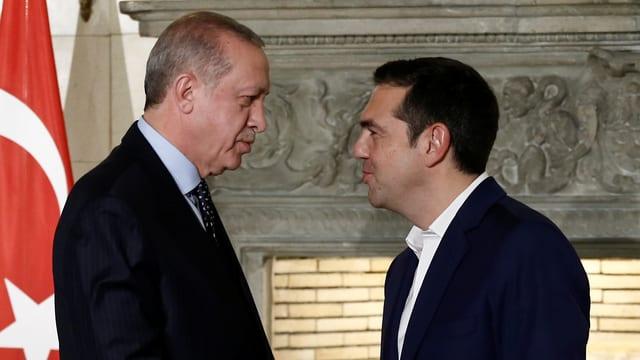 Recep Tayyip Erdogan und Alexis Tsipras.