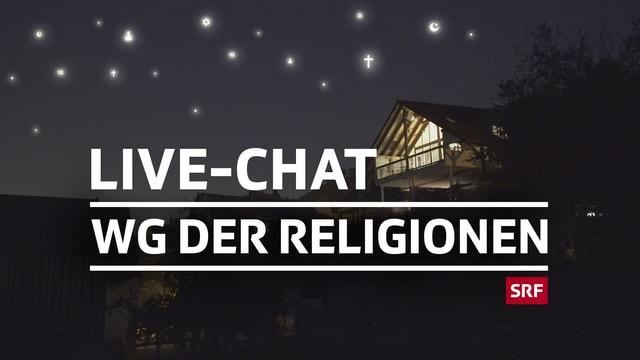Logo der Sendung und Schriftzug Live-Chat