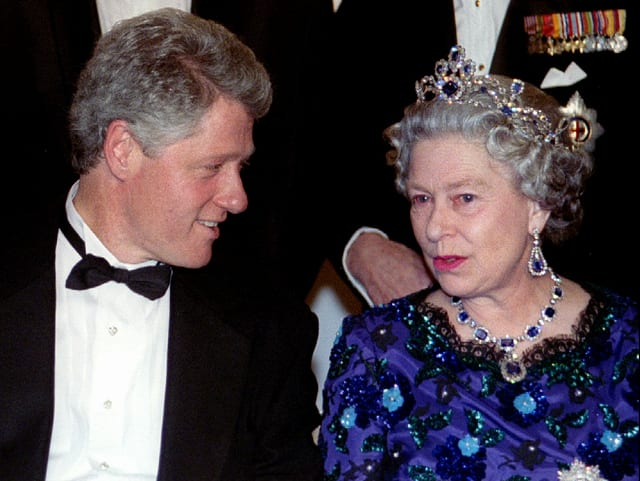 Bill Clinton und Queen Elizabeth