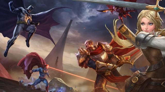 Helden aus dem «Game Arena of Valor»