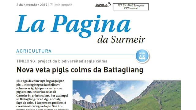 La pli nova ediziun da la Pagina da Surmeir.