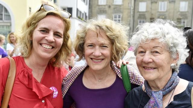 Karin Rykart, Corine Mauch und Ursula Mauch