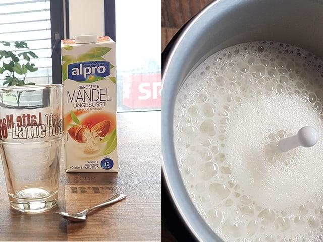 Mandelmilch und Schaum