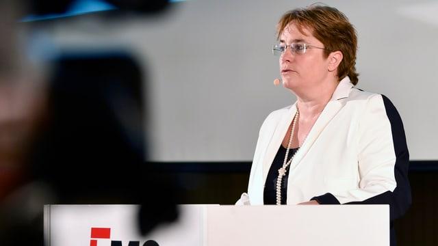 Legt eine erfreuliche Halbjahresbilanz vor: EMS-CEO Magdalena Martullo-Blocher.