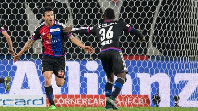Behrang Safari e Breel Embolo dal FC Basilea.
