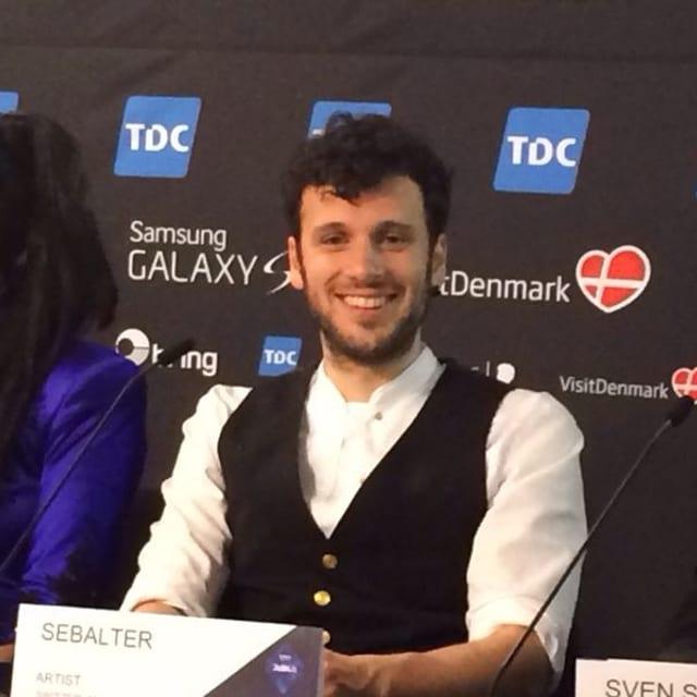 Strahlender Sieger: Sebalter kurz nach der Verkündung bei der Pressekonferenz