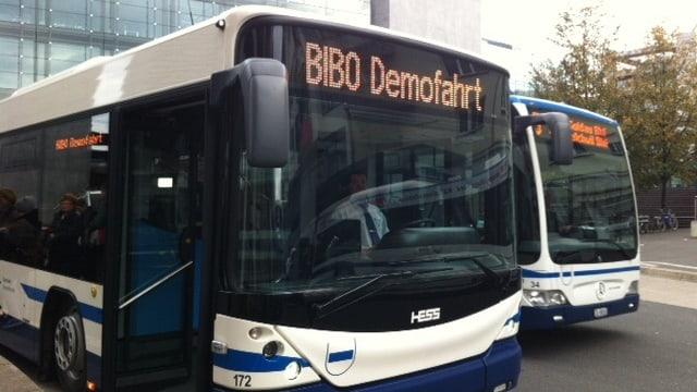 Testbus der Zugerland Verkehrsbetriebe