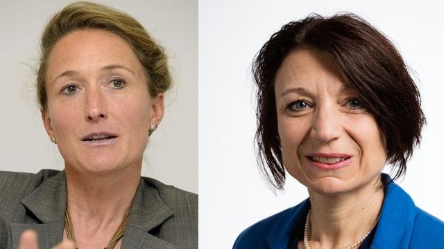 Susanne Hochuli und Yvonne Feri.