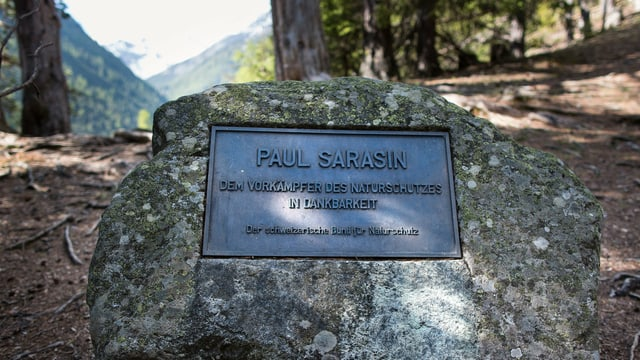 Gedenktafel für Paul Sarasin