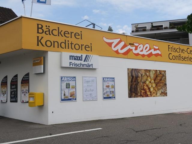 Fassade eines Ladens.