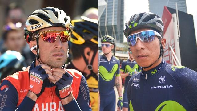 Vincenzo Nibali (links) und Nairo Quintana.