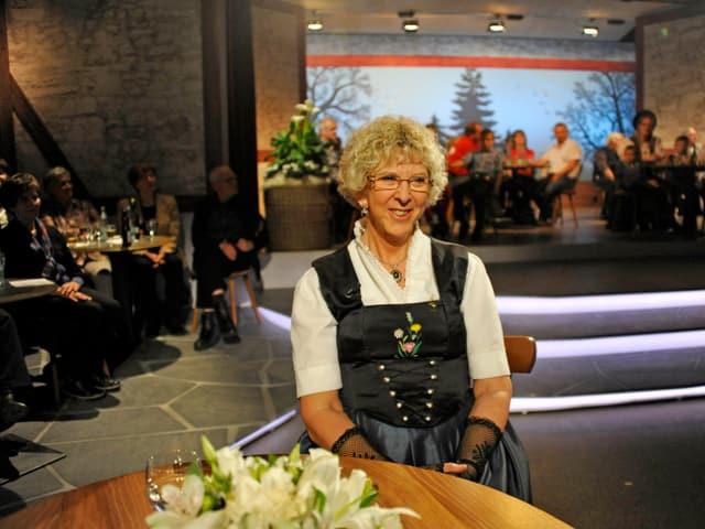 Marie-Theres von Gunten im Studio.