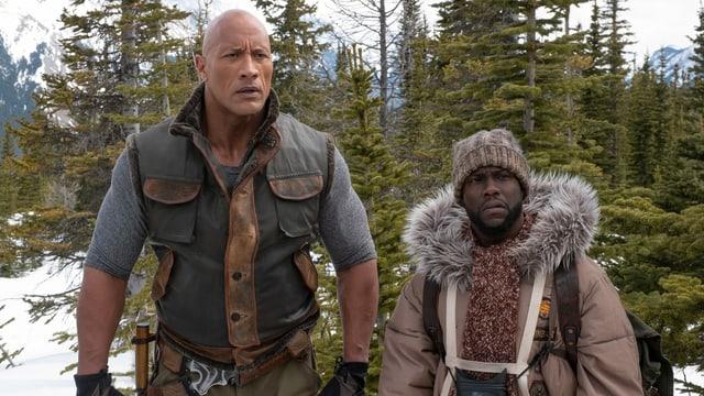 Zwei Helden in Bergwald.
