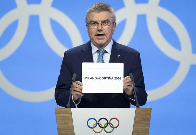 Ils gieus olimpics d'enviern 2026 han lieu a Milaun e Cortina d'Ampezzo.
