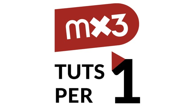 Il logo da l'acziun mx3 - tuts per in.