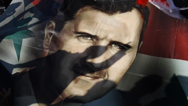 Pro-Assad Demonstration 2011 in Syrien